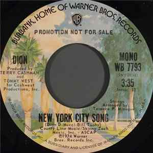 Dion - New York City Song Album